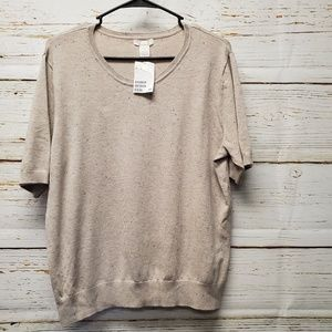 NWT H&M Confetti Short Sleeve Sweater